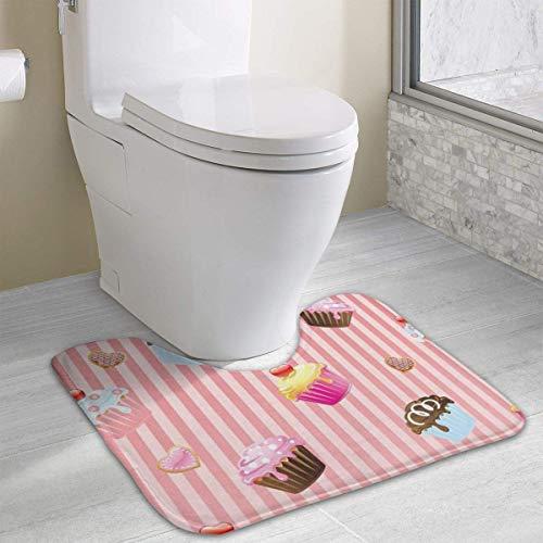 Hoklcvd Personalisierte Toilette Teppich-Sweet Cakes WC U-förmige MatCartoon weiche Matte Dusche Boden Teppichbad (Gnome Dodger)