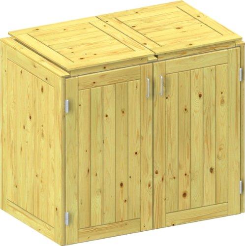 *BINTO Nadelholz Mülltonnenbox, Müllbox System 3*
