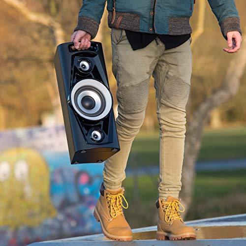 Reflexion PS07BT Mobile Discosoundmaschine (inkl. Bluetooth, Radio, 2x USB, AUX-IN, Karaokefunktion und Akku) schwarz - 8