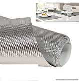 20Meter Anti Slip grip Mat Roll for Multipurpose usage. ( 1 Piece of Roll ) (Material : PVC, Colour : Multi colour, will be sent as per availability, Size : Full Length 0.45M X 20M / 45cms x 2000cms)