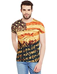 Wear Your Mind Multicolour Polyester Printed Tshirt For Men CST229.2