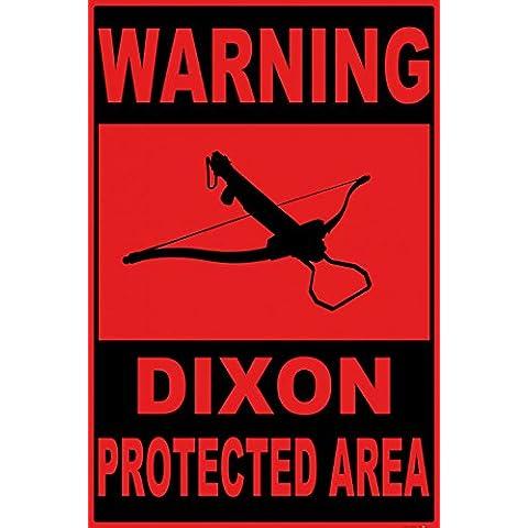Zombies - Warning Dixon Protected Area Póster Impresión Artística (120 x 80cm)