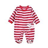 Pyjama Bebe Noel Grenouillere Rouge a pied en Molleton (3M)