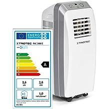 TROTEC PAC 2600 E, Condizionatore d'aria locale a 9000 Btu, EEK A, Monoblocco da 2.6 Kw, Bianco
