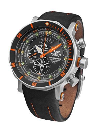 Vostok Europe Lunokhod 2 Quartz Men's Watch with Perpetual Calendar and Time Alarm YM86-620A506