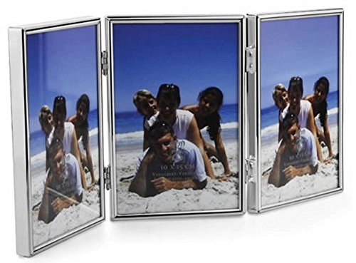 Silver Triple Folding Photo Frame By David Van Hagen
