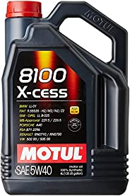 Motul 8100 X-Cess 5W-40 API SN/CF Fully Synthetic Gasoline and Diesel Engine Oil (4 L) (104256)