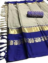Women's Latest Designer Party Wear New Collection Cotton Silk Bollywood Trendy Elegant 2018 Latest Designe Saree...