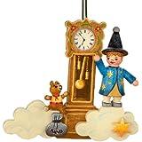 Hubrig Nostalgischer Baumbehang Sandmann-Teddy-Uhr