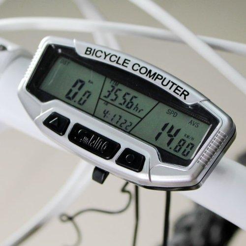 bidyn (TM) imperméable Ordinateur de vélo écran LCD rétroéclairé Odomètre Compteur de vélo multifonction Accessoires Horloge Chronomètre yc053-sz +