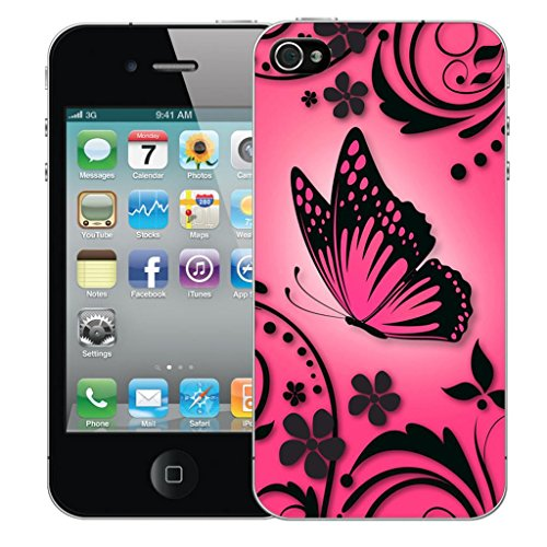 Nouveau iPhone 5 clip on Dur Coque couverture case cover Pare-chocs - Rose pieces Motif avec Stylet pink caress