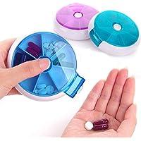 7 Tage Runde Pill Box Wöchentlich Medizin Speicherorganisator Dispenser Tragbare Reise Pille Fall (zufällige Farbe) preisvergleich bei billige-tabletten.eu