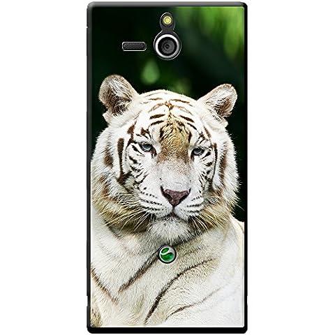 Blanc Tigres Étui rigide pour téléphone portable, plastique, White Tiger Portrait, Sony Xperia U