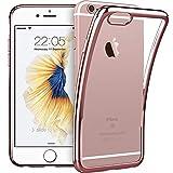 ESR Kompatibel mit iPhone 6 / 6S Hülle (4,7 Zoll), Twinkler Series [0.8mm Ultra Dünne] Weiche Silikon Schutzhülle TPU Transparent Zurück mit Überzug Farbig Rahmen Hülle für iPhone 6/6S - Rosy Gold
