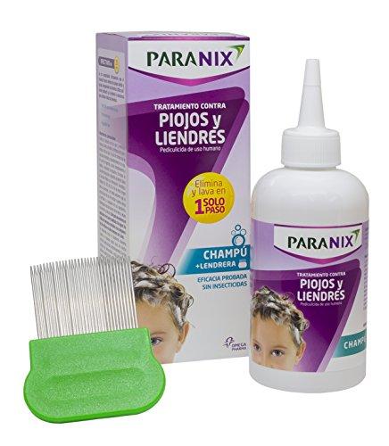 Paranix Champú. Tratamiento para Piojos y Liendres - Incluye Lendrera - Sin insecticidas - 200 ml