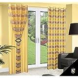 140x245 gelb transparent ZWEISEITIG Vorhang Vorhänge Gardine Ösenschal yellow 180_2