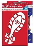 Weihnachtsmann Fußdruck Schablone Mit Rentier Fußabdrücke Weltkarte Aufkleber Und Glitzer