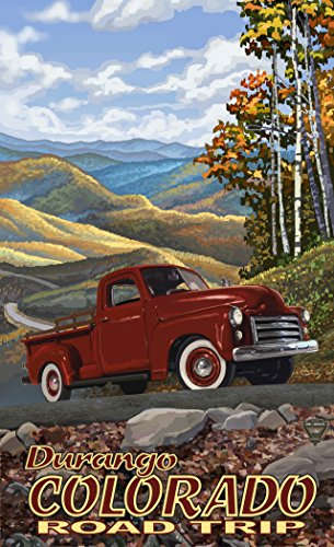 Northwest Art Mall pal-4815 Brt Durango Colorado Big Red Truck Print von Künstler Paul A. lanquist, 27,9 x 43,2 cm