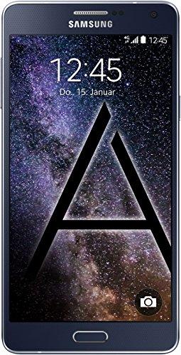 Samsung Galaxy A7 Smartphone (13,9 cm (5,5 Zoll) Full HD Super AMOLED-Display, 1,8GHz Quad-Core Prozessor, 13 Megapixel-Kamera, Android 4.4) midnight-black (Wi-fi Direct Headset)