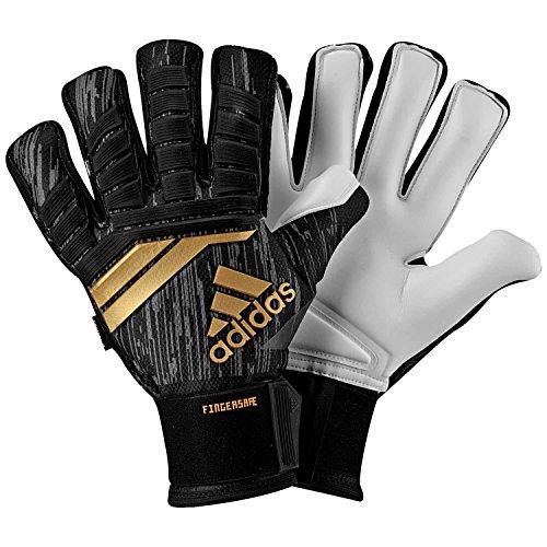 adidas Erwachsene ACE18 Fingersave Pro Torwarthandschuhe, Black/Solar Red/Copper Gold/White, 9.5 (Adidas Fingersave Torwarthandschuhe)