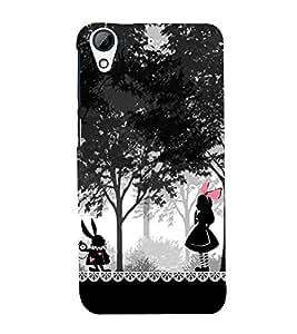 CUTE GIRL IN WOOD LAND Designer Back Case Cover for HTC Desire 820::HTC Desire 820Q::HTC Desire 820S
