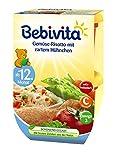 Bebivita Gemüse-Risotto mit zartem Hühnchen ab 12. Monat, 2x250g, 500 g
