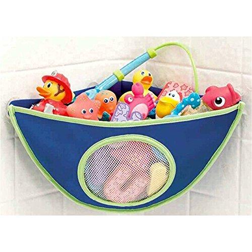HENGSONG Baby Kinder Wasserdicht Badewanne Spielzeug Aufbewahrungstasche Halter Organizer Badespielzeug Hängende Beutel (Dunkelblau)