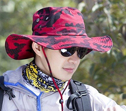 Sun-kapuze M?nnliche Gezeiten Abgeschirmt Anti-ultraviolett Sonnenschutz im Freien Traufe Hase Hut Fischen Hut Tarnung Fischer Hut,D