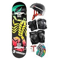 Venom Scorpion Complete Skateboard with Helmet + Triple Pad Set - Junior