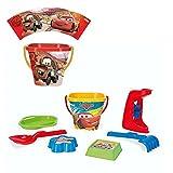 Dickie Spielzeug Secchio di Sabbia con Mulino ad Acqua | 7 Pezzi | Disney Cars | Giocattoli