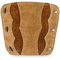 Tiro con Arco pulsera de piel para Todos arquero como equipo de protección, marrón