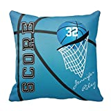 Blu basketball Personalize cuscini per divano piazza federe decorativo Cuscino casi unico Accent copertura del cuscino 45,7x 45,7cm