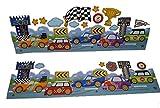 Unbekannt 16 tlg. Set Wandtattoo / Fensterbild Auto selbstklebend Tattoo Bordüre Fahrzeug - Wandsticker Autos für Jungen