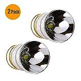 Veeki LED-Taschenlampenbirne 1000 Lumen, sanfter Reflektor Cree T6, Einfacher Modus 3.0 - 18 V, Drop-In-P60-Design: Ultrafire, Surefire, Hugsby, C2 G2 Z2 6P 9P G3 S3 D2, Ultrafire 501B 502B 3 Stück