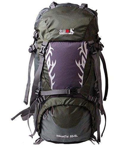 borsa arrampicata all'aperto di grande capacità uomini e donne borsa a tracolla borsa da viaggio zaino di campeggio 60L 50L Army Green