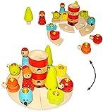 21 tlg. Set: Geburtstagsring - mit einzelnen Deko Elementen / Tier Figuren zum Stecken - aus Holz - für Kerzen - Kinder bunt - Geburtstagskranz Kindergeburtstag Kerze / Geburtstagszug - Mädchen Jungen Geburtstagskerzen - Leuchtturm - Geburtstagsringe