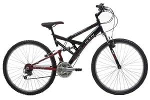 Activ by Raleigh Mens Full Suspenion Bike - Black/Red, 26-inch Wheel, 18 Inch Frame