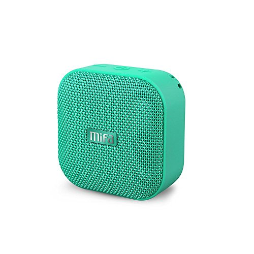 MIFA A1 Mini Lautsprecher Bluetooth, Technologie TWS, 15 Stunden Spielzeit, IP56 Wasserfester und Staubdichter Wireless Speaker mit 3,5mm Audio-Eingang, grün Handy Mp3 Lautsprecher