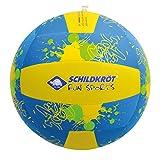 Schildkröt Neopren Beach Ball XL, riesiger Wasserball, Ø 35 cm, mit Wasserballventil, Jumbo Ball im Volleyballdesign, 970290