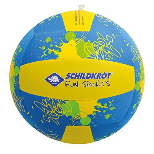 Schildkröt Funsports Schildkröt Neopren Beach XL, riesige Ø35cm, Jumbo-Ball, Wasserball, Volleyballdesign 970290, Mehrfarbig,