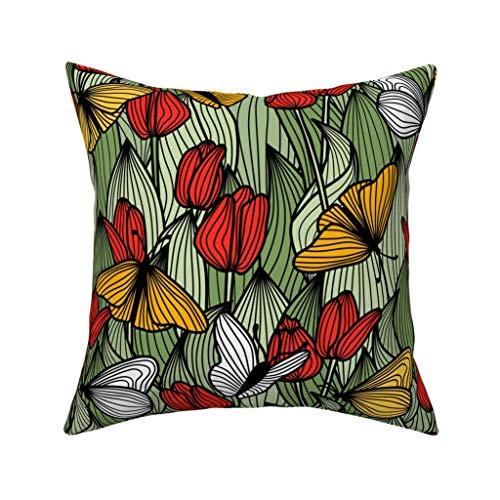 Butterfly Garden Seat (Einst Butterfly Garden Kissenbezug Sofa Kissenbezug Home Decor 18 x 18 Zoll 45 x 45 cm)
