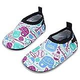 JIASUQI Sommer Komfort Wasser Haut Schuhe Socken für Baby für Beach Pool Aerobic, Weiße Kappe 0-6...