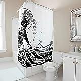 Dofeely Muster Duschvorhang Wasserabweisend Waschbar Shower Curtain Bad Vorhang 100% Polyester 120x200cm