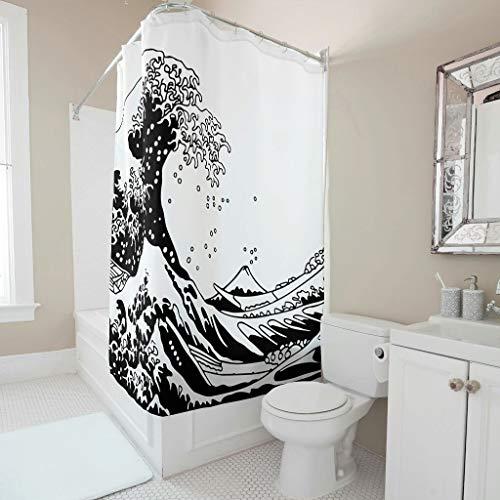 Dofeely Muster Duschvorhang Wasserabweisend Waschbar Shower Curtain Bad Vorhang 100{f8117a23b68557baf18ed9bbcb2f79d9dc95d82162d758bfb82b350388d0edc9} Polyester 120x200cm