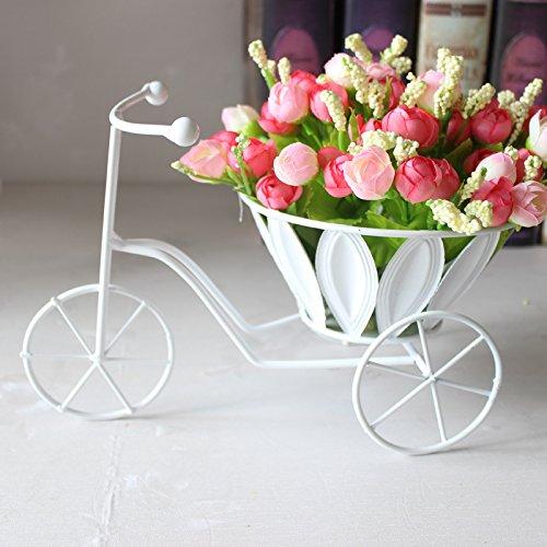 clg-fly creative casa decorazione fiore artificiale decorazione giardino fiori cesto B + pink flower