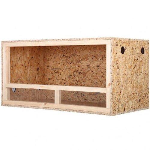 Repiterra® Terrarium aus Holz 120cmx50cmx50cm mit Seitenbelüftung aus OSB Platten mit Floatglas
