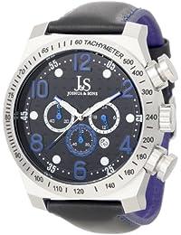 Joshua & Sons Men's JS-14-BU Chronograph Stainless Steel Sports Watch