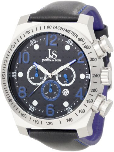 Joshua & Sons Men's JS-14-BU Chronograph Stainless Steel Sports Watch