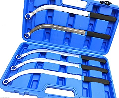 5 Piece Metric Poly V Belt Spanner Set - ribbed belt wrench - tool for tensioners & pulleys