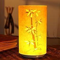 Chino clásico lámpara de mesa LED pergamino noche luz de noche a distancia decoración de Navidad adorno de puesta en página, Bamboo Leaves